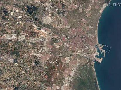 Vista aérea de Valencia en 2016.