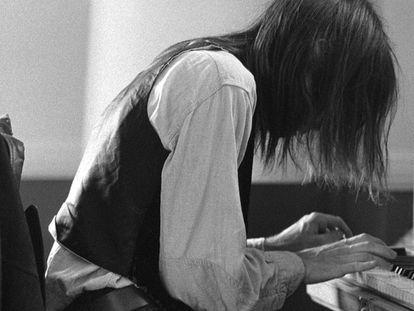 El músico canadiense, en una imagen de su juventud.