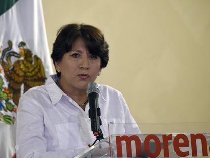 La secretaria de Educación, Delfina Gomez, en una imagen de 2017.