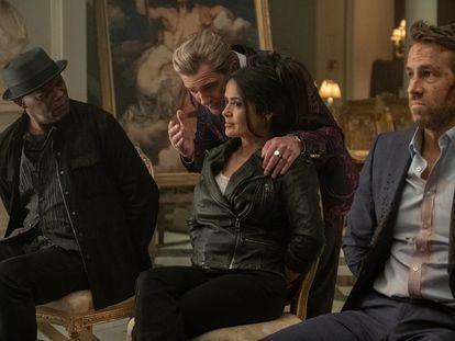 Samuel L. Jackson, Antonio Banderas, Salma Hayek y Ryan Reynolds, en 'El otro guardaespaldas 2'