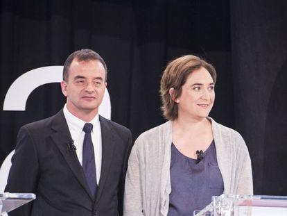 Alfred Bosch i Ada Colau.