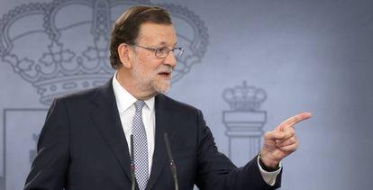 Mariano Rajoy en La Moncloa, tras su reunión con el Rey.