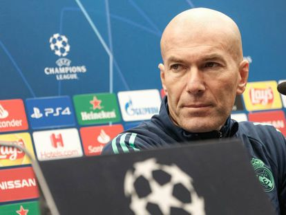 Zidane, en la rueda de prensa de este martes. En vídeo, el técnico francés evita hablar de Tsunami Democràtic.