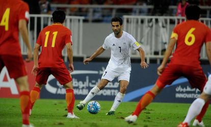 Masoud contra China en las eliminatorias mundialistas.