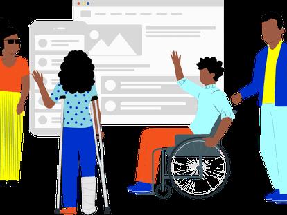 Una ilustración sobre los problemas de accesibilidad en internet.