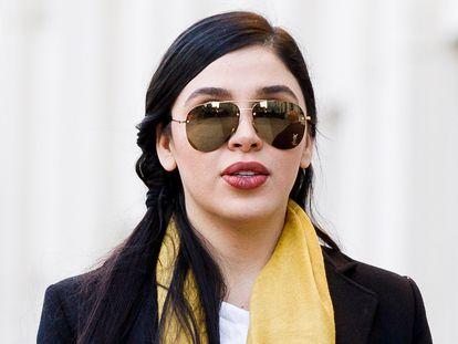 Emma Coronel, en la Corte de Distrito en Nueva York, el 23 de enero de 2019.