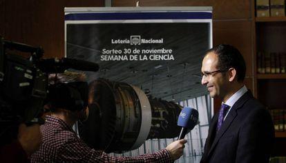 El director de la FECYT, José Ignacio Fernández Vera, en un acto de la Lotería en 2013.