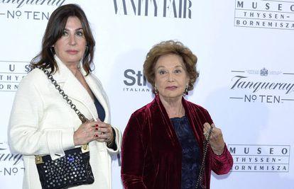 Carmen Martínez-Bordiú y su madre, Carmen Franco, en octubre de 2014.