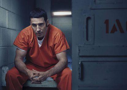 Miguel Ángel Silvestre en la piel de Pablo Ibar, en la serie 'En el corredor de la muerte'.