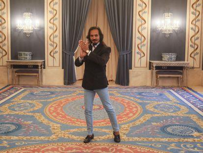 El bailaor sevillano Farruquito posa en el Teatro Real en la presentación de su nuevo espectáculo.