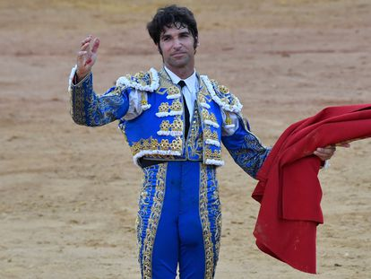 Cayetano Rivera Ordóñez en la plaza de toros de Huelva el pasado 2 de agosto.