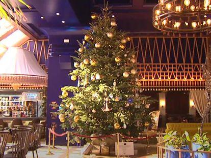 El árbol de navidad del hotel Kempinski Hotel Bahía en Estepona (Málaga).