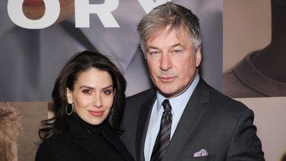 Hilaria y Alec Baldwin, en un estreno de Broadway, Nueva York, el 20 de febrero de 2020.