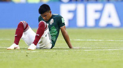 El mexicano Gallardo, durante el Mundial de Rusia.