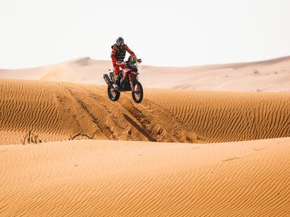 Joan Barreda, en un momento de la sexta etapa disputada este viernes en Arabia Saudí.