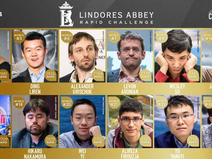 La nómina del Lindores Abbey, el primer torneo de la serie Magnus Carlsen Tour, a partir del día 19