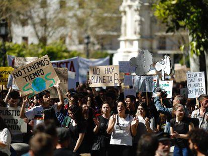 Los jóvenes andaluces se movilizan contra el cambio climático