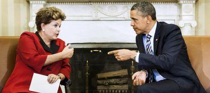 Rousseff y Obama, en la Casa Blanca en 2012.