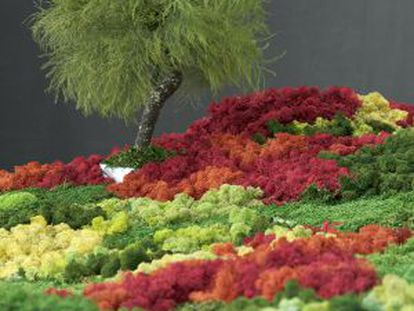 'Jardín japonés', instalación de Esther Pizarro en Matadero Madrid (hasta el 20 de abril).