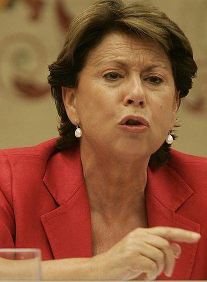 Magdalena Álvarez, en el Congreso de los Diputados