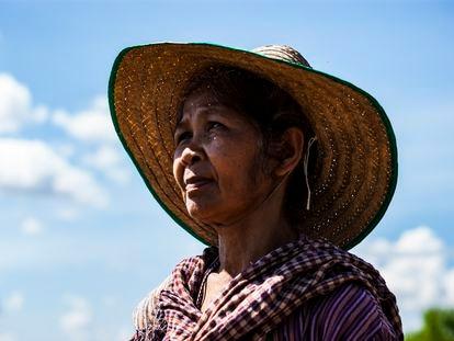 Ranong Kongsaen, de 59 años, es la fundadora del colectivo de las Abuelas Radicales en el pueblo de Na Nong Bong, en la provincia de Loei, en el noreste de Tailandia.