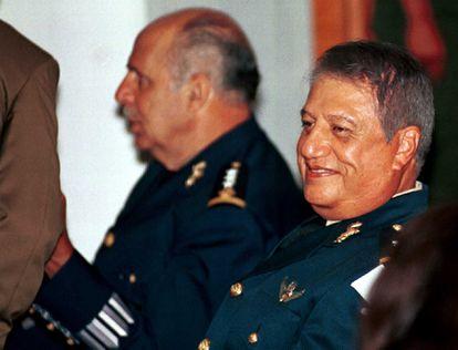 Mario Arturo Acosta Chaparro durante el Consejo de Guerra que le juzgó en octubre de 2002 por su participación con el narcotráfico.
