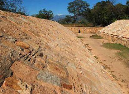 Juego de Pelota de la zona arqueológica de Tehualco (México)