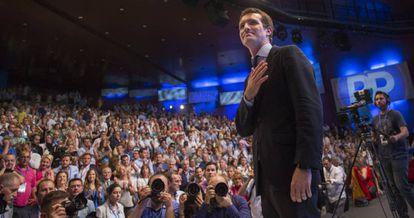 Pablo Casado, tras su elección como presidente del PP.