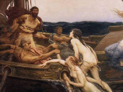 'Ulises y las sirenas', del pintor Herbert James Draper (1909).