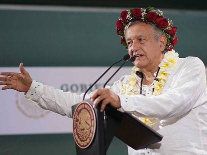 Andrés Manuel López Obrador, en Chiapas.