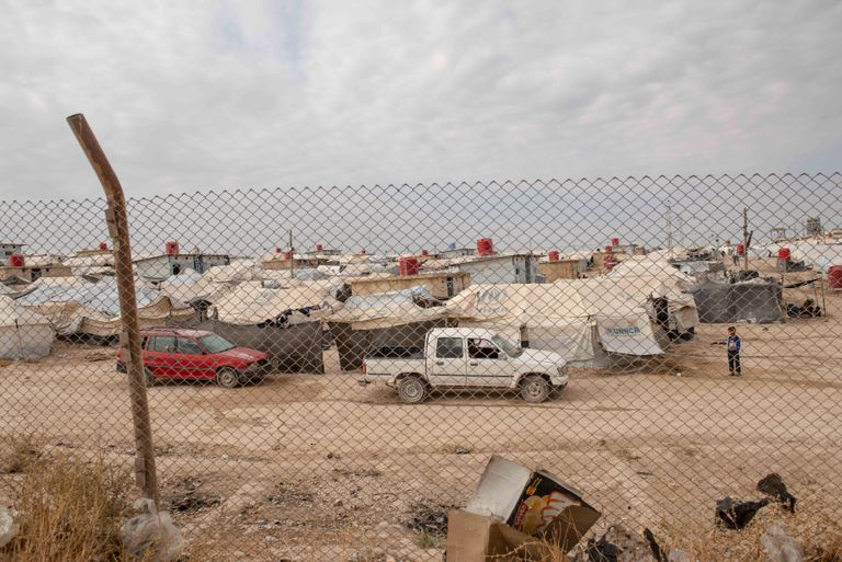 Vistas sobre el campo de Al Hol en el noreste de Siria.