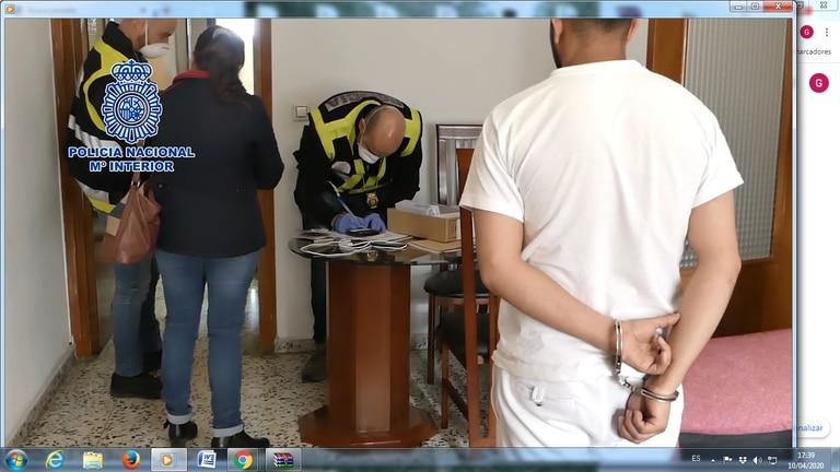 Detención de los acusados de engañar a colombianas y prostituirlas en Córdoba y Jaén. Policía Nacional