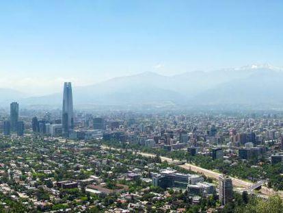 Vista de Santiago de Chile.