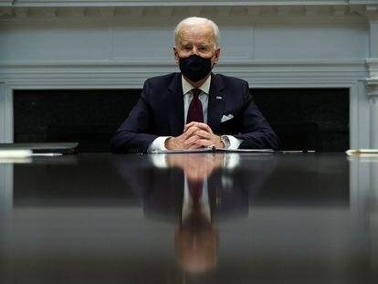 El presidente de Estados Unidos, Joe Biden, en la Casa Blanca.