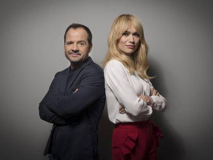Ángel Martín y Patricia Conde, presentadores de 'Wifileaks'.