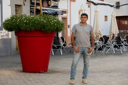 Francisco Lloret, trabajador de una empresa de jardinería, el 29 de enero en Las Palmas.