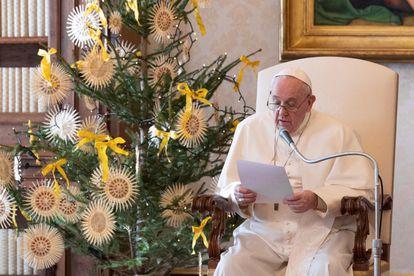 El papa Francisco, este miércoles durante una audiencia en el Vaticano.