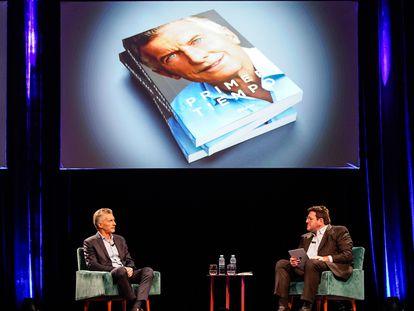 Mauricio Macri, expresidente de Argentina, durante la presentación de su libro, en Buenos Aires.