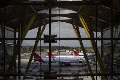 Vistas desde la T4, en el aeropuerto de Barajas.