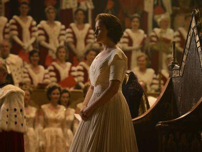 Claire Foy como la reina Isabel II en 'The Crown'.