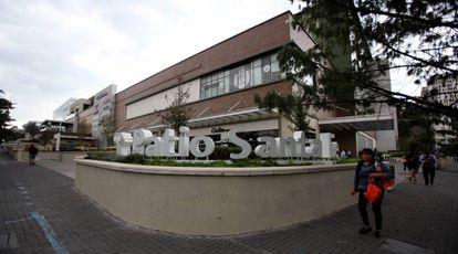 El centro comercial donde María Villar tomó el taxi.