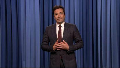 Jimmy Fallon, el pasado lunes, en la presentación de su programa.