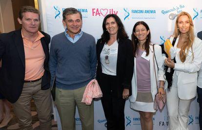 Julián Sevilla, Juan Bueren, Aurora de la Cal (secretaria de la Fundación Anemia de Fanconi), Paula Río y Susana Navarro.