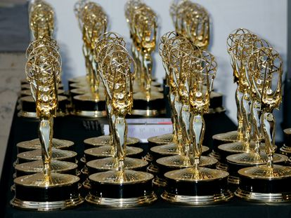 Estatuillas de los galardones creativos de los Emmy, en una edición pasada.
