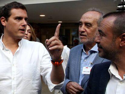 El líder de Ciudadanos, Albert Rivera, este lunes.