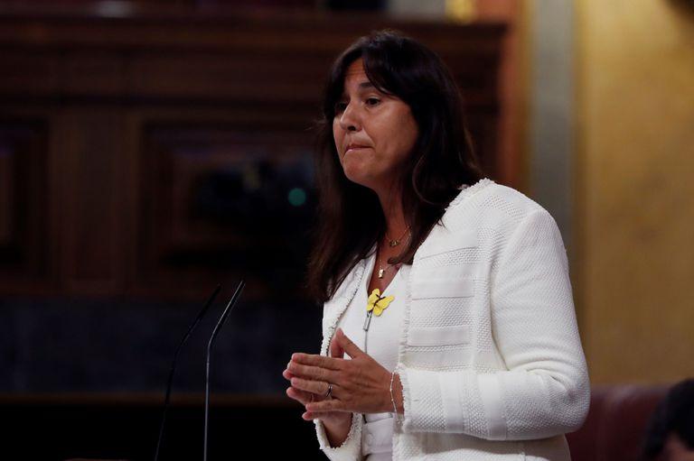 La diputada de Junts per Cataluña Laura Borrás, en el pleno del Congreso de este miércoles.