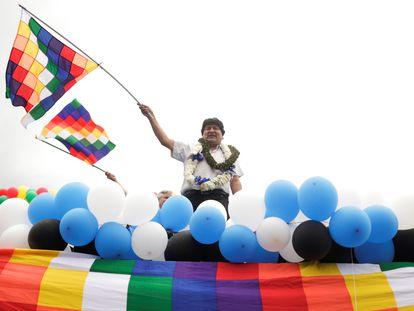 El expresidente de Bolivia, Evo Morales, en un evento en noviembre pasado.
