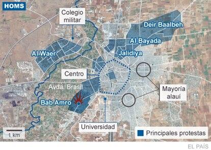Zonas de las principales protestas y ataques