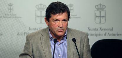 El candidato del PSOE a la presidencia del Principado, Javier Fernández.