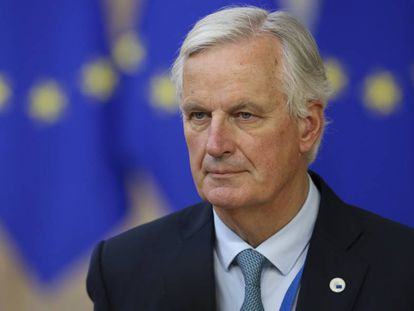 Michel Barnier, jefe negociador de la Comisión Europea, este jueves en el Parlamento Europeo.